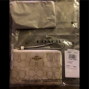 Authentic Coach Wristlet with Box New